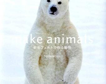 Make Animals Needle Felt Wool - Japanese Craft Book MM