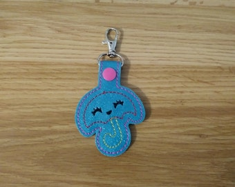Embroidered Umbrella Key Chain Fob