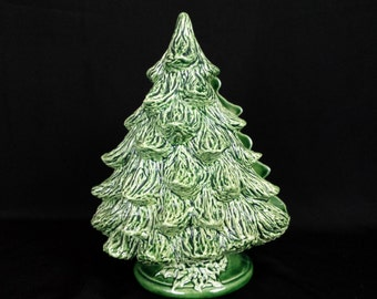 Vintage Ceramic Christmas Tree Napkin Holder