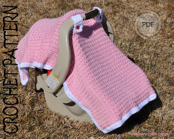Crochet Pattern Baby Licious Car Seat Canopy Blanket