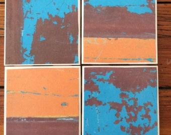 Graffiti Ceramic Coasters- set of four ceramic tiles