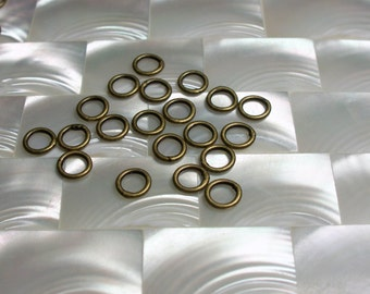 6mm 18 gauge CLOSED Antique Brass Plated Steel Jump Rings 20pcs Jewelry Jewellery Craft Supplies