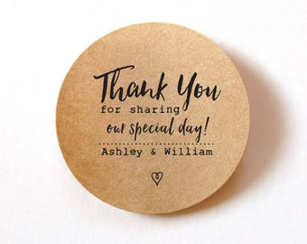 Custom Labels Stickers custom stickers wedding favor stickers Wedding stickers for favors thanks you stickers wedding label stickers 60