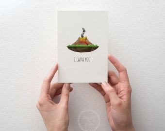 I Lava You - Greeting Card