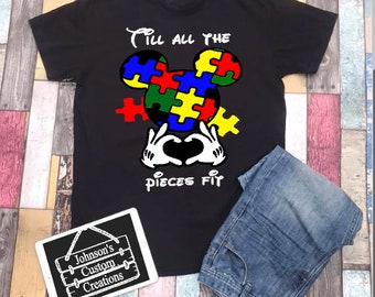 Till all the pieces fit. Autism Awareness shirt. Autism speaks. Autism Shirt. Puzzle Piece
