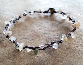 Agate anklets,Stone anklets