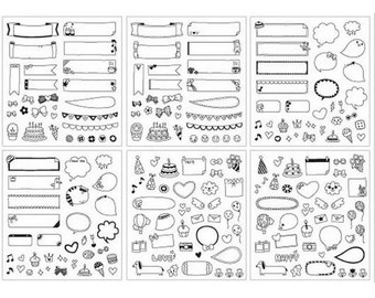 6 sheets stickers for scrapbooking, stickers decoration