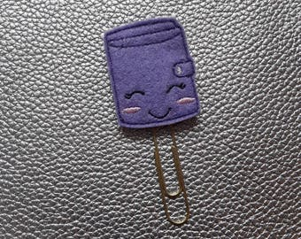 Lovely Lilac Girl Planner Bookmark. Planner Feltie Clip.  Paperclip.  Felt Clip. Planner Gifts.  Stationery.  UK SELLER!