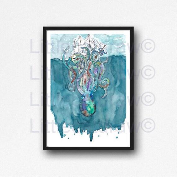 Kraken Print