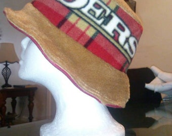 Team Fleece Bucket Hat/Fedora/Floppy hat/fall/winter hat!! Custom Made