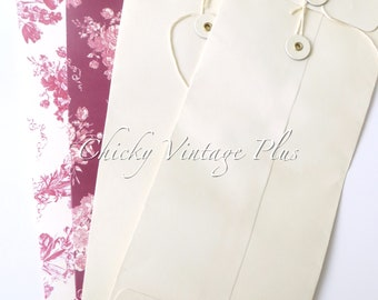 Vintage Sets of Blank Cards and Envelopes (Set of 2)