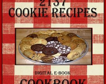 2137 Cookie Recipes E-Book Cookbook Digital Download