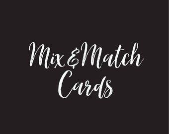 Mix & Match Set of Occasion Cards - Greetings Cards - Wedding - New Baby - Birthday - Christian Cards - Encouragement - Mixed Card Offer