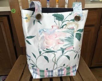 Walker Bag with two pockets, walker tote - Pastel Promise