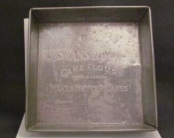 Swans Down Cake Flour Pan Advertising Tin Cake Pan Made In Canada