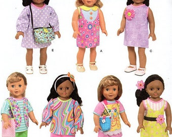 Simplicity 1713- Sewing pattern for 18 Inch Doll Clothes- Fits American Girl Dolls-