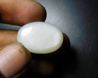 AAA+Natural white moonstone cabochon   gemstone cabochon white moonstone top quality handmade making  oval  shape 28 c t   24x16x8 Sr - 324