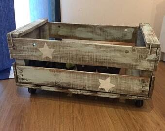 Decorative box with wheels
