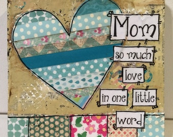 Mother wall art, Mother's Day Gift