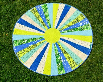 Tropical Starbright- Circle Playmat Quilt