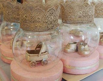 Princess / prince baby shower centerpieces
