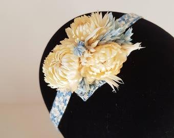 Dried flowers headband