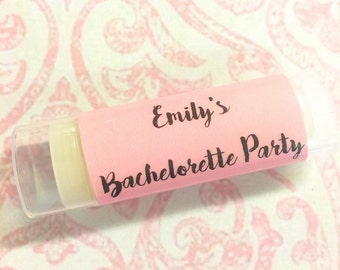 Personalized Bachelorette Party Favor, Bachelorette Party Favor, Bachelorette Party, Bachelorette Lip Balm, Bachelorette Gift/Gift for Bride