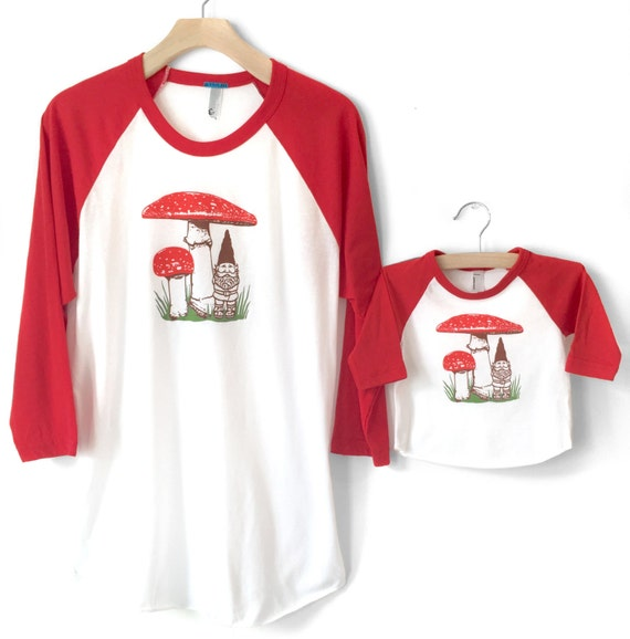 Matching Father Son Shirts, Father's Day Gift, Matching Daddy shirts, dad and baby tees, New Dad Gift, Gnome Mushroom Shirt, father daughter