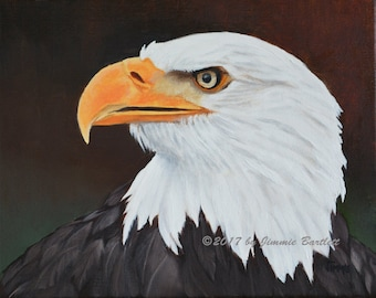 Eagle Eye print of original painting