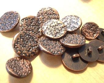 Vintage Copper Buttons Set Sew Nice