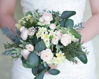 Pink Bouquet, Small Bridal Bouquet, Bridesmaid Bouquet, Bouquet, Spring Bouquet, Pastel Bridal Bouquet, Wedding Bouquet, Silk Flower Bouquet