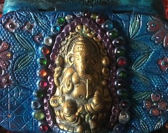altered altoid tin with Ganesha