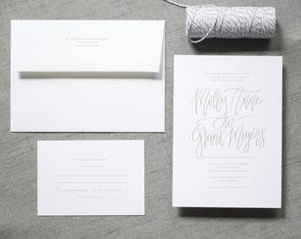 The Molly Suite  //  Modern Calligraphy Wedding Invitation Suite