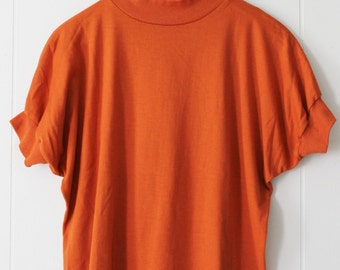Vintage Bright Orange Tee Shirt Size L
