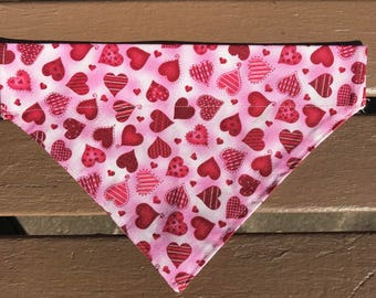 Pink Heart Over-the-Collar Bandana