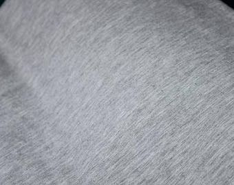 Bamboo Cotton Jersey, Light Grey, 250gsm, 4 Way Stretch, By the 1/2 Meter.