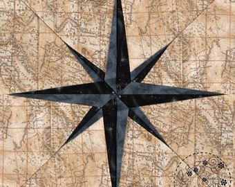 Compass Needle - Paper Piecing