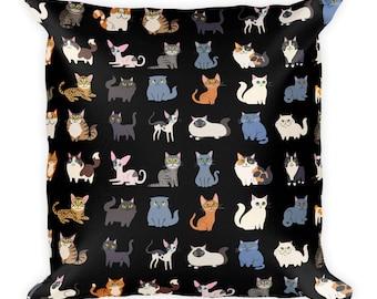 Cats pillow 18x18