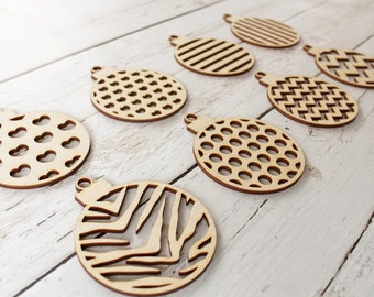 Wood Christmas Ornaments Unfinished
