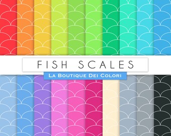 All Colours Fish Scales Digital Paper Pack Printable Instant Download for Personal and Commercial Use.