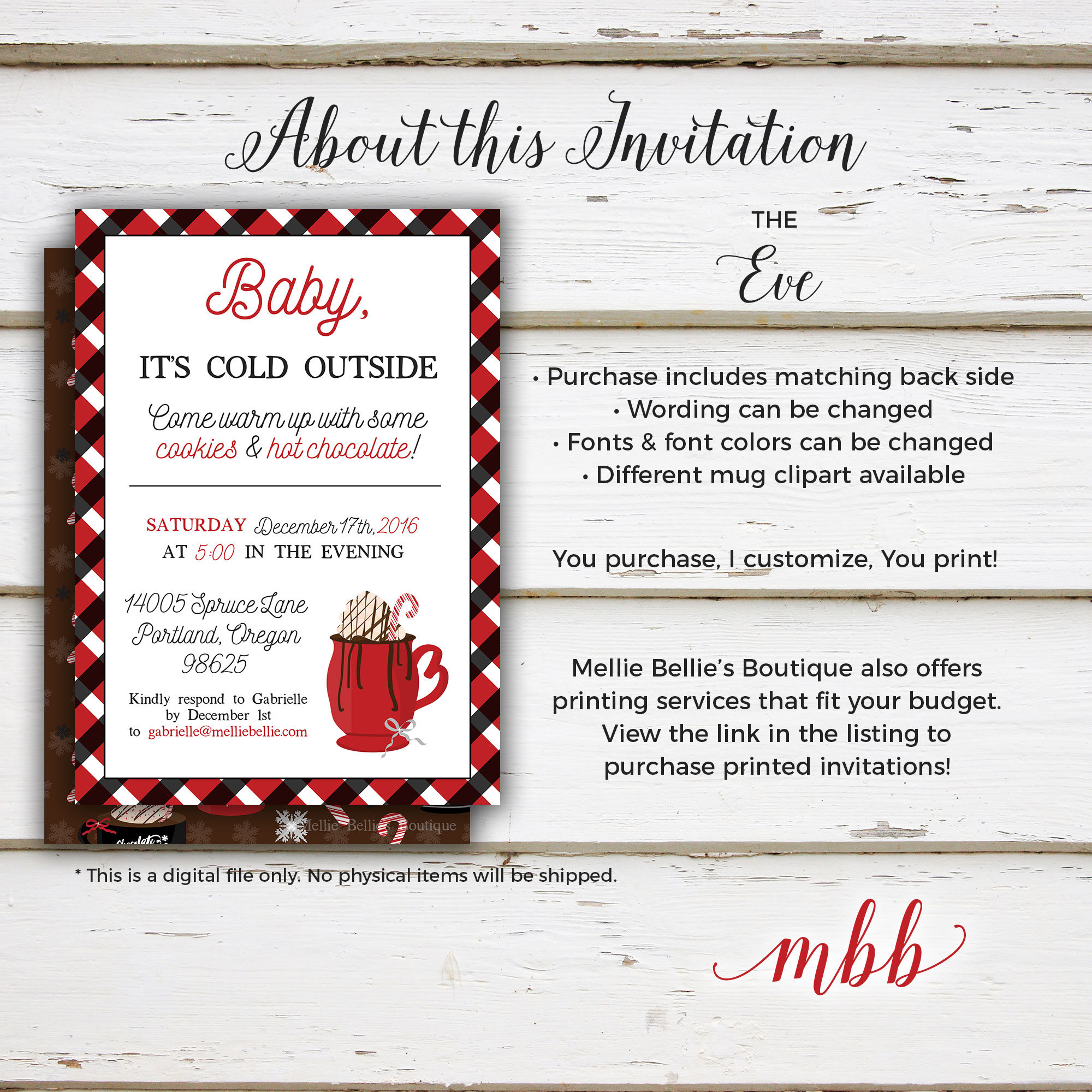 Printable Cookie Exchange Party Invitation Christmas Party Cookies