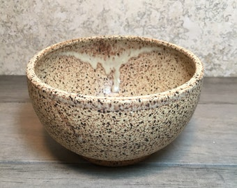 Rustic Bowl - Handmade Stoneware Bowl - Ceramic Bowl - Cereal Bowl - Salad Bowl - Ice Cream Bowl - Speckled Stoneware Bowl - Beige Bowl