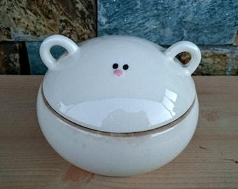Original Japan SETO Handcrafted Sugar Bowl