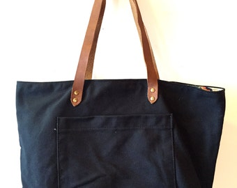 Portlander Tote with floral lining