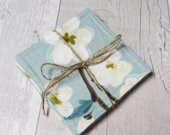 Fabric Coasters - 4 Drink Mats - Cup Coasters - Mug Coasters - Reversible Coasters - Gift for Her - Coaster Set - Drink Coasters