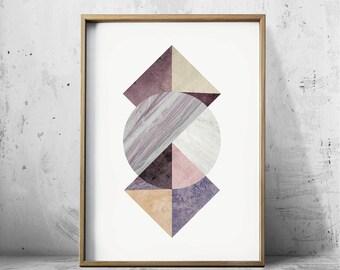 Modern Art Print Geometric Prints - Abstract Art Prints - Abstract Wall Art - Abstract Art Print - Nordic Art - Triangle Art