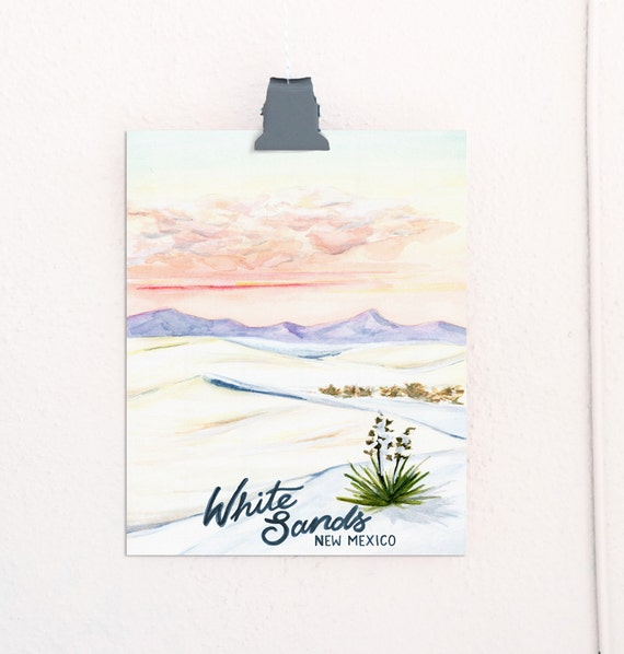 White Sands, New Mexico National Monuments Travel Poster *OLD*