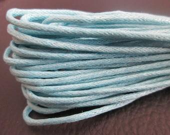 sky blue waxed cord dangles 1.5 mm in diameter