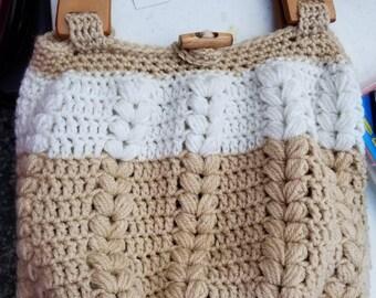 Large crochet handbag