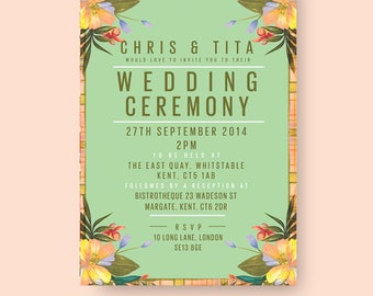 TROPICANA WEDDING INVITATION